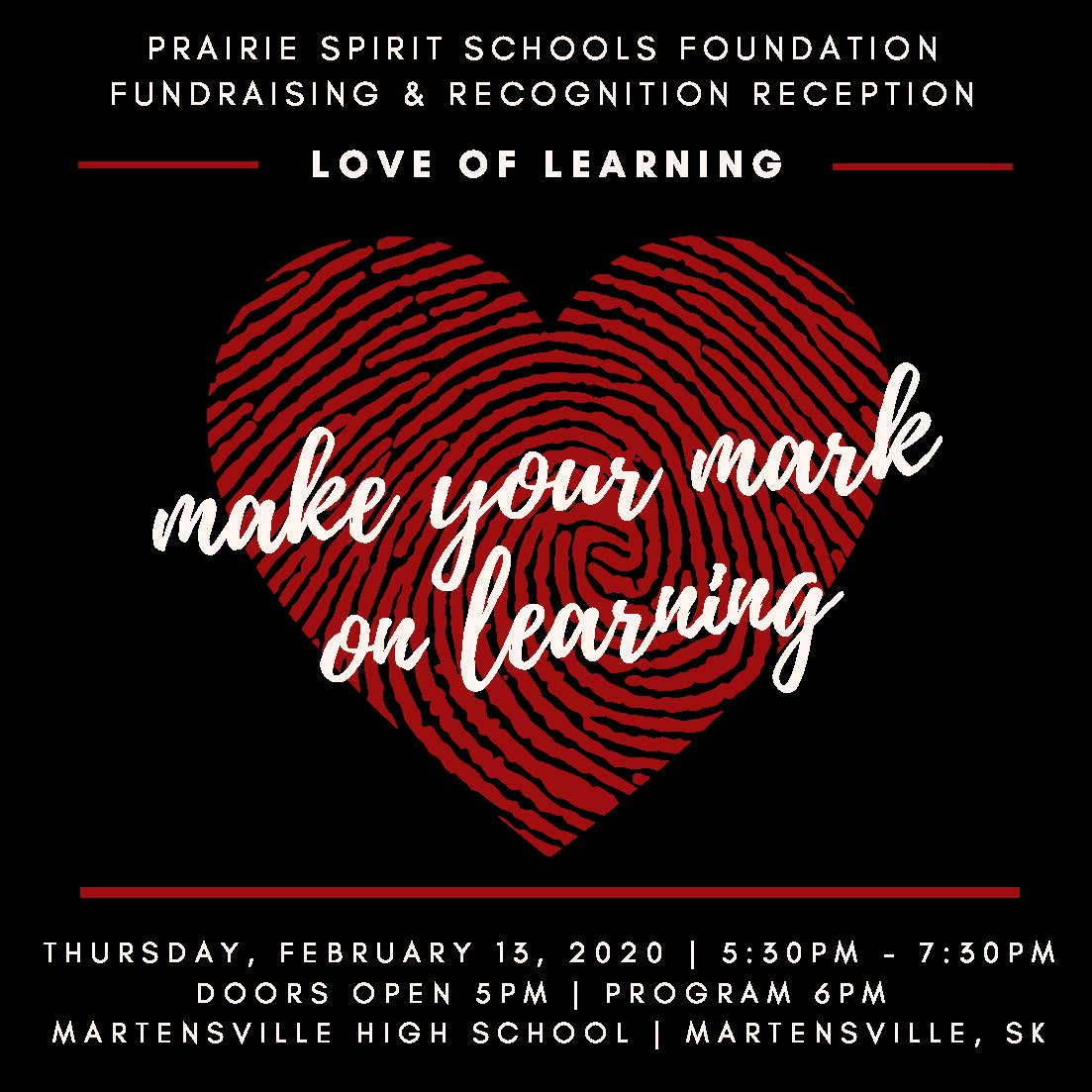PSSF Love of Learning Reception